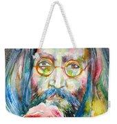 John Lennon - Watercolor Portrait.9 Weekender Tote Bag