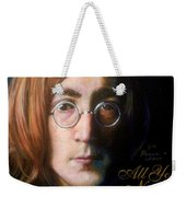John Lennon - Wordsmith Weekender Tote Bag