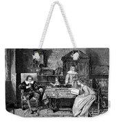 John Milton Dictating Paradise Lost Weekender Tote Bag