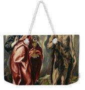 John The Baptist And Saint John The Evangelist Weekender Tote Bag