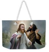 John The Baptist Baptizes Jesus Christ Weekender Tote Bag