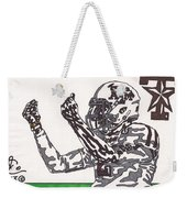 Johnny Manziel 10 Change The Play Weekender Tote Bag by Jeremiah Colley