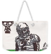 Johnny Manziel 11  Weekender Tote Bag by Jeremiah Colley