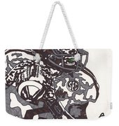 Johnny Manziel 8 Weekender Tote Bag by Jeremiah Colley