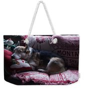 Johnny On The Montana Throw Weekender Tote Bag