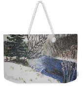 Johnson Vermont In Spring Snow Storm Weekender Tote Bag