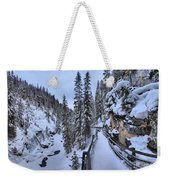 Johnston Canyon Winter Boardwalk Weekender Tote Bag