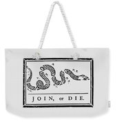 Join Or Die Weekender Tote Bag by War Is Hell Store