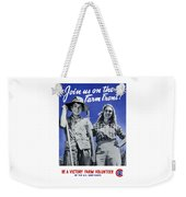 Join Us On The Farm Front Weekender Tote Bag