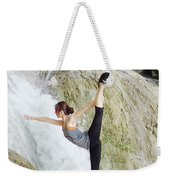 Join Yoga Teacher Training In Chandra Yoga International School. Weekender Tote Bag