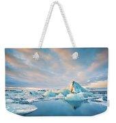 Jokulsarlon Glacier Lagoon Weekender Tote Bag by Mihai Andritoiu