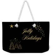 Jolly Holidays Gold Sparkle Weekender Tote Bag