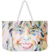 Joni Mitchell - Watercolor Portrait Weekender Tote Bag