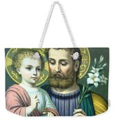 Joseph And Baby Jesus Weekender Tote Bag