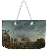 Joseph Vernet   A Sporting Contest On The Tiber At Rome Weekender Tote Bag