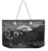 Joshua Tree At Keys View In Black And White Weekender Tote Bag