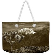 Joshua Tree At Keys View In Sepia Tone Weekender Tote Bag