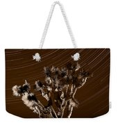 Joshua Tree Night Lights Death Valley Bw Weekender Tote Bag