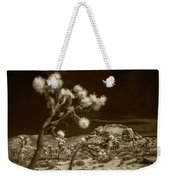 Joshua Trees And Boulders In Infrared Sepia Tone Weekender Tote Bag