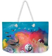 Journey To The Snow Coral Weekender Tote Bag