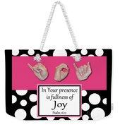 Joy - Bw Graphic Weekender Tote Bag