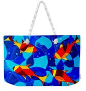 Joy Fish Abstract Weekender Tote Bag