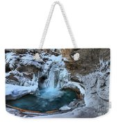 Johnston Canyon Winter Delight Weekender Tote Bag