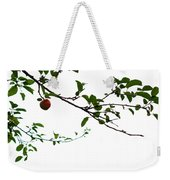 Juicy   A Tempting Photograph Of A Tasty Ripe Red Apple On A Tree  Weekender Tote Bag