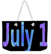 July 1 Weekender Tote Bag