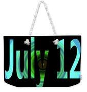 July 12 Weekender Tote Bag