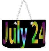 July 24 Weekender Tote Bag