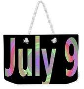 July 9 Weekender Tote Bag