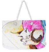 July Kitty In Rachaels Lap Weekender Tote Bag