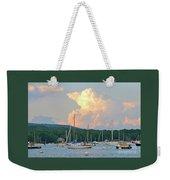 July Sky Over A Maine Harbor Weekender Tote Bag