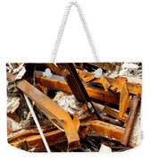 Jumbled Steel Weekender Tote Bag
