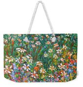 Jumbled Up Wildflowers Weekender Tote Bag