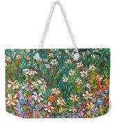 Jumbled Up Wildflowers Weekender Tote Bag