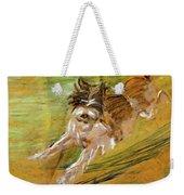 Jumping Dog Schlick 1908 Weekender Tote Bag