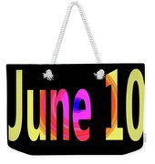 June 10 Weekender Tote Bag