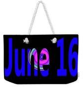 June 16 Weekender Tote Bag