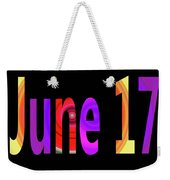 June 17 Weekender Tote Bag