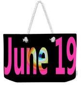 June 19 Weekender Tote Bag