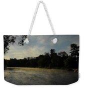 June Mississippi River Misty Dawn Weekender Tote Bag