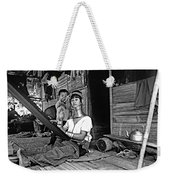 Jungle Crafts Bw Weekender Tote Bag