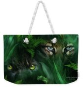 Jungle Eyes - Panther And Ocelot  Weekender Tote Bag