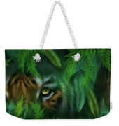 Jungle Eyes - Tiger And Panther Weekender Tote Bag