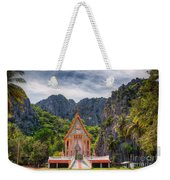 Jungle Temple Weekender Tote Bag by Adrian Evans