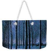 Jungle Trees In Blue  Weekender Tote Bag