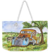 Junk Car And Tree Weekender Tote Bag