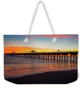Juno Pier Colorful Sunrise Panoramic Weekender Tote Bag